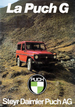 Steyr-Daimler-Puch Vehicles - Puch G: http://sdp.haflinger-4wd.com/puch-g/brochures/puch-g-w460-03.php